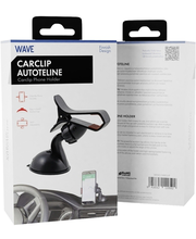 Autohoidik Wave Car Clip, klambriga mudel must