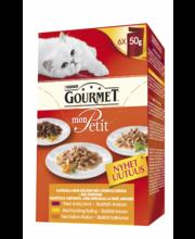 Täissööt kassidele, erinevad valikud linnulihaga 6 × 50 g