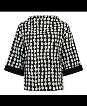 Naiste pluus pampula must/valge m