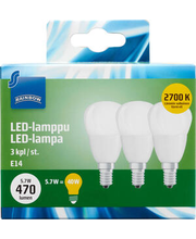 LED-lamp 5,7W E14 2700K 470LM, 3 tk