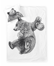 Voodipesukomplekt Karu ja Siil 150x210/50x60 cm