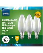 LED-küünal 4W E14 2700K 470LM, 3 tk