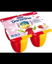 Danonino kohupiimakreem 4 x 95 g, maasika-banaani