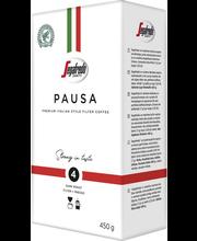 Filtri- ja presskannukohv Segafredo Pausa 450 g