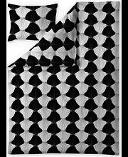 Voodipesukomplekt Aurora 150x210 cm, valge/must