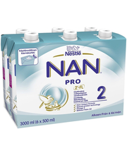 Nan Pro 2 jätkupiimajook 6 x 500 ml, alates 6-elukuust