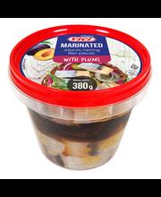 Marineeritud Atlandi heeringafilee tükid ploomidega õlis 380 g
