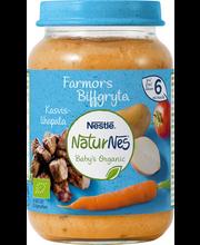 NaturNes juurvilja-veise püree 190 g, alates 6-elukuust