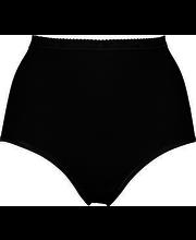 Naiste aluspüksid 3 paari, must XXXL