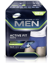 Tena Men Active Plus M inkontinents hügieeniside meestele 9 tk