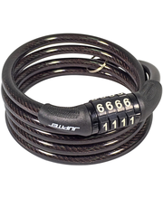 Rattalukk koodiga, spiraal, 150 cm/8 mm