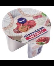 Maasikamoosiga mannapuding