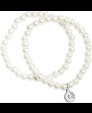 Cailap käevõru pärlid valge