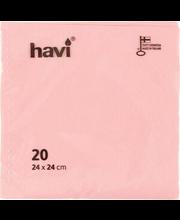 Salvrätik 24cm 20 tk, roosa