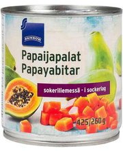 Rainbow papaiatükid siirupis, 425/260 g