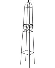 Obelisk House, 115 cm, metall, must