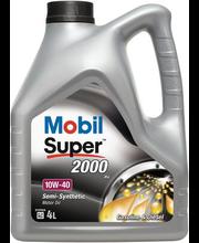 Mootoriõli Mobil Super 2000 X1 moottoriöljy 10W-40 4 l,poolsü...