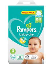 Pampers teipmähkmed Baby Dry 3, 6-10kg, 152 tk