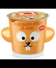 AB-jogurt virsiku-vaarika-aprikoosi 150 g, laktoosivaba