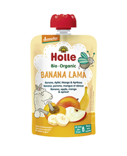 Banaani-õuna-mango-aprikoosipüree 100 g, alates 6-elukuust