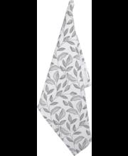 Köögirätikud lehdet must/ valge 50x70cm, 100% puuvill