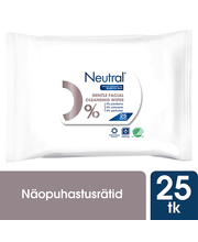 Näopuhastus salvrätt sensitiv skin 0% 25tk