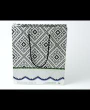 Kinkekott Mustjala kindamuster 18x70x21 cm