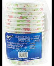 Jäätisetops+lusikas 10 tk