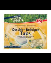 Oro Green nõudepesumasina tabletid 40 tk, öko