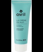 Öökreem Organic Dry Sensitive 50 ml