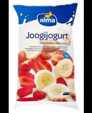 Banaani-maasika joogijogurt, 1 kg