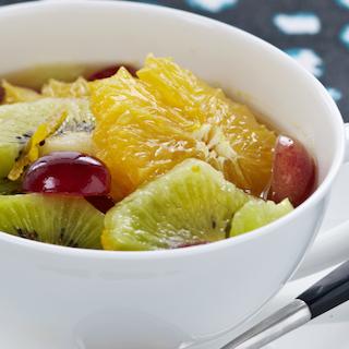 Earl Grey marinaadiga puuviljasalat