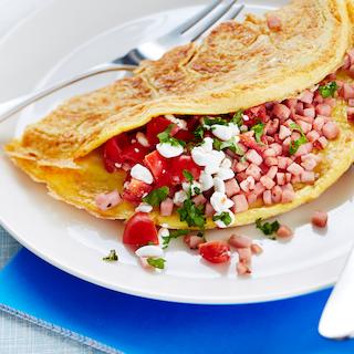 Singi-kodujuustu omlett