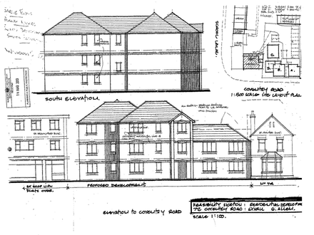 Plot of land with outline planning for 8 assisted living units