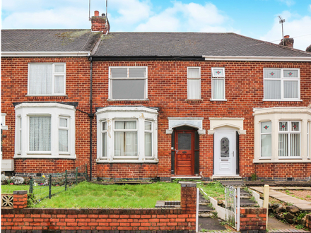 2 bedroom with loft room, mid-terraced property in need of complete renovation.