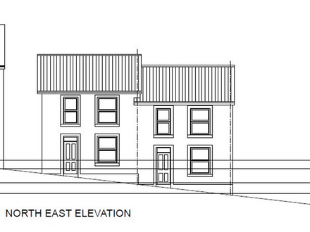 Land With Planning For Two Three Bedroom Dwellings