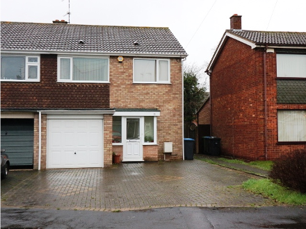 3 bedroom semi close to A45. Ideal family home or rental investment.