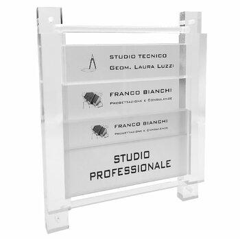 Struttura Telaio Plexiglass Porta Targhe...il Design al Servizio della Professionalità