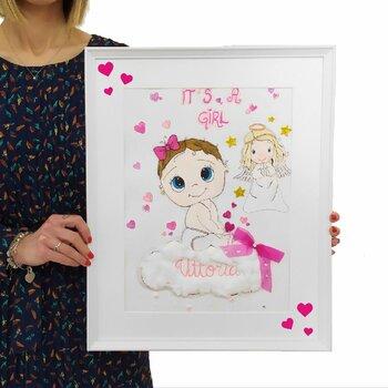 Tocco d'Artista...Idea Originale e Handmade Maschietto o Femminuccia. Formato 40 cm x 50 cm
