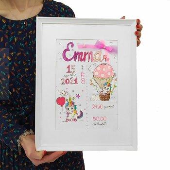 Tocco d'Artista...Idea Originale e Handmade Caratteristiche Neonato/a. Formato 40 cm x 30 cm