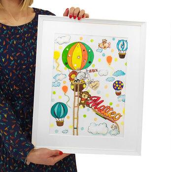 Tocco d'Artista...Idea Originale e Handmade per Decorare la Cameretta dei Bimbi. Formato 50 cm x 40 cm