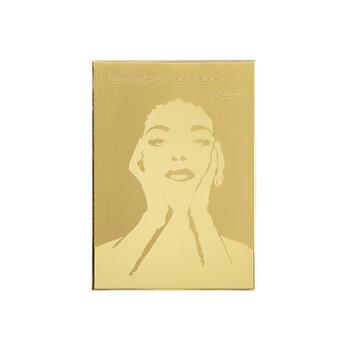 Es. 216 Targa Ottone Satinato con Soggetto Lucido e Scritte Incise 22 cm x 31 cm