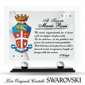 Targa Plexiglass con Cristalli SWAROVSKI....Forze dell'Ordine