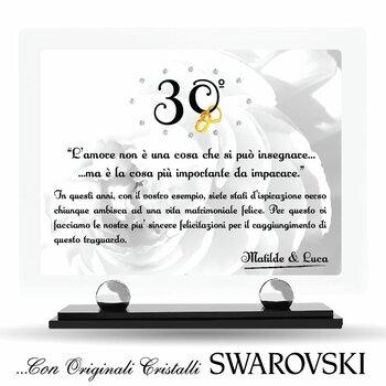 Targa in Plexiglass con Cristalli SWAROVSKI....Anniversari & Ricorrenze