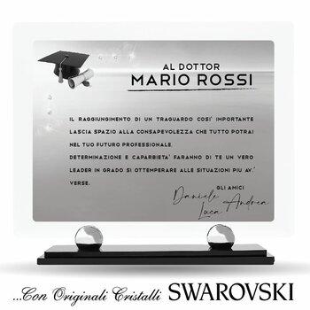 Targa in Plexiglass con Cristalli SWAROVSKI....Laurea & Professionisti