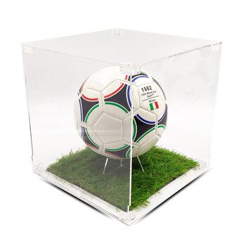 Teca in Plexiglass a TEMA Porta Pallone da Collezione H 30 cm L 30 cm P 30 cm