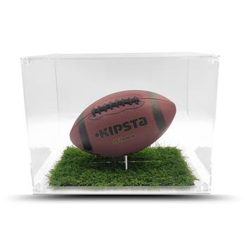 Teca in Plexiglass a TEMA Porta Pallone da Collezione H 30 cm L 40 cm P 30 cm