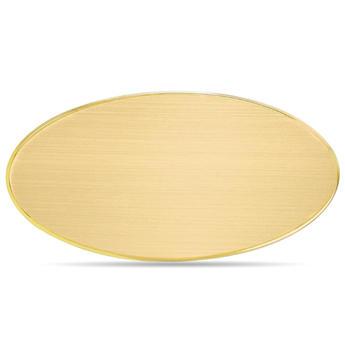 Targa da Porta Ovale Ottone Satinato Bordo Lucido 12,5 cm x 6 cm