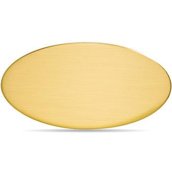 Targa da Porta Ovale Ottone Satinato Bordo Stondato 12,5 cm x 7,5 cm