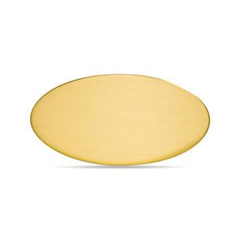 Targa da Porta Ovale Ottone Satinato Bordo Stondato 12,5 cm x 6 cm